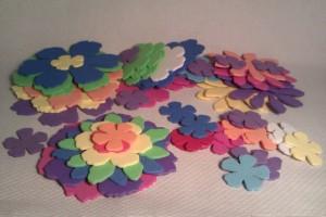 Flores de goma-eva troqueladas 2